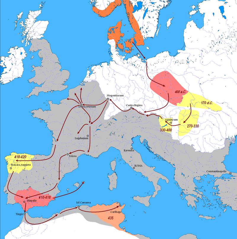 Migration des Vandales de 400 à 430